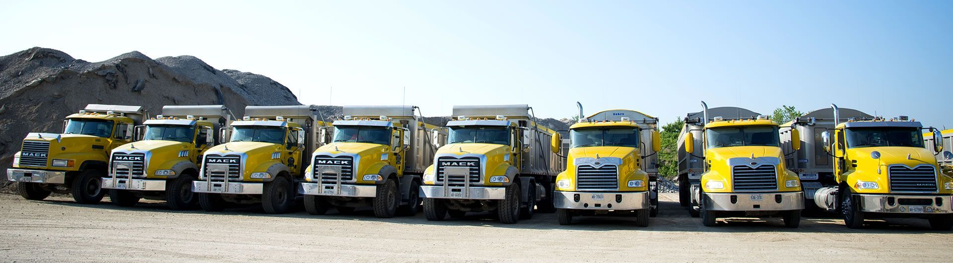 Truck Line-up front view