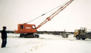 First dragline is purchased and primarily operated in McCann Redi-Mix managed pits.