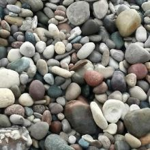 "Decorative Stone<br>Round coloured stone between 2"" – 6"" in size.  Used primarily for landscaping purposes."