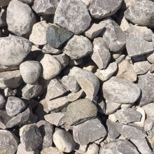 "4"" to  8"" Rip<br>Larger crushed stone.  Used for drainage purposes to help protect from water erosion."